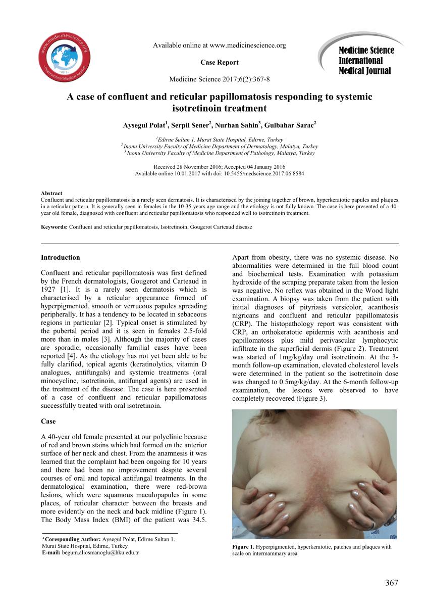 papillomatosis confluent et reticularis