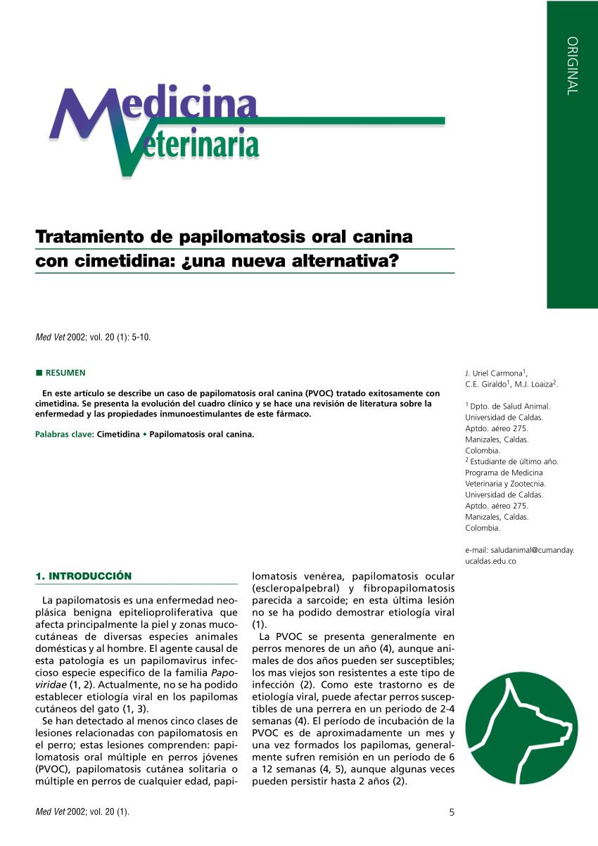 tratamiento para papilomatosis)