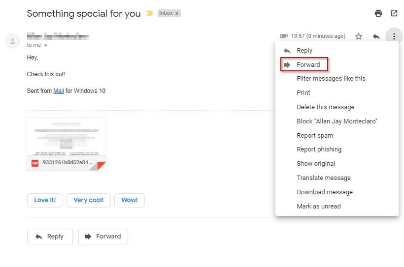 virusi email)