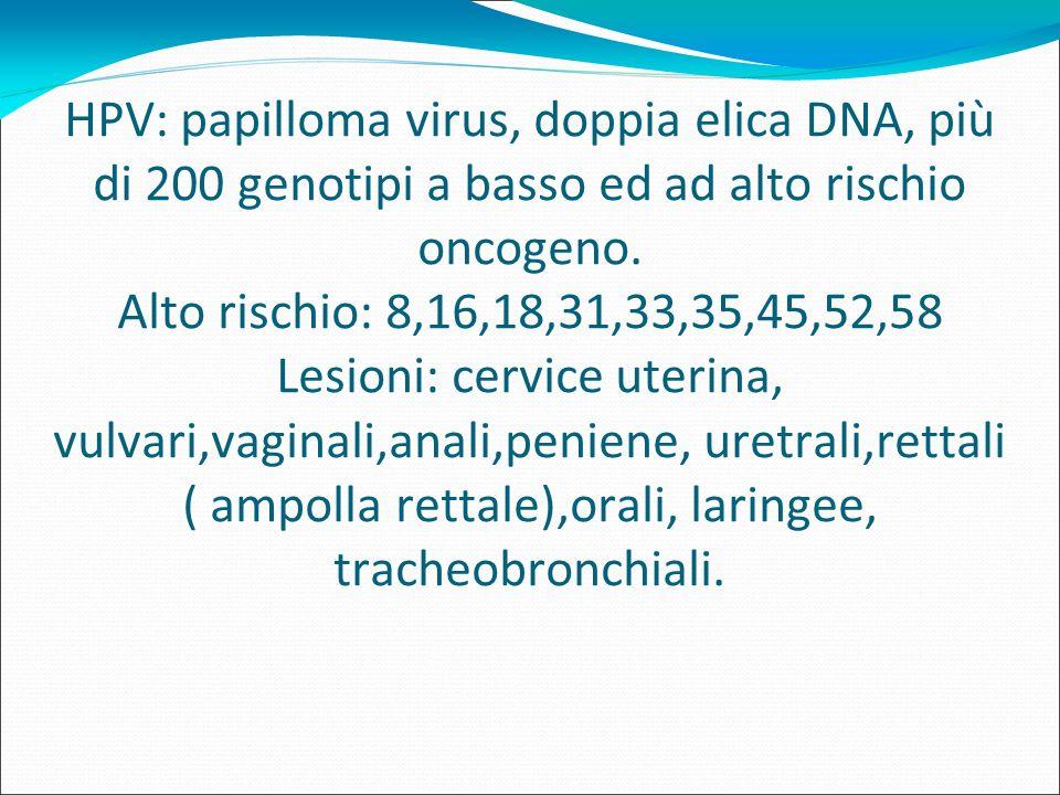 papilloma virus umano ad alto rischio oncogeno