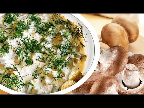 o salata cu ciuperci