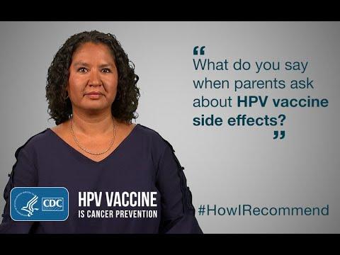 human papillomavirus immunization side effects)