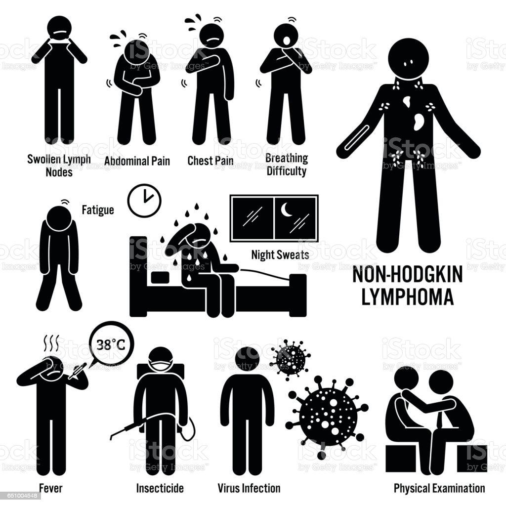 cancer hodgkin human lymph lymphoma nodes non icon