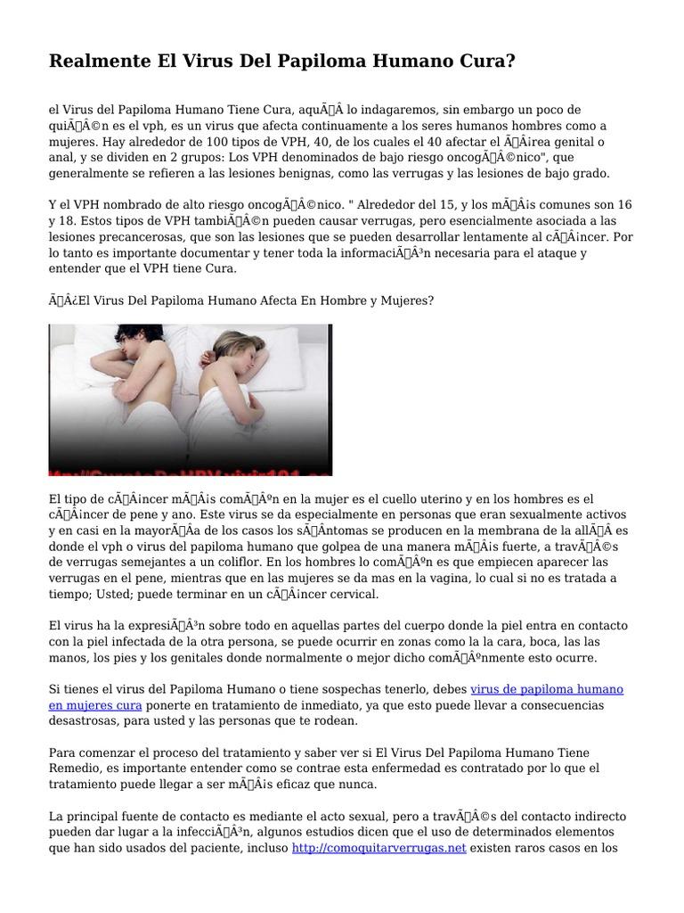 papiloma humano tratamiento en mujeres