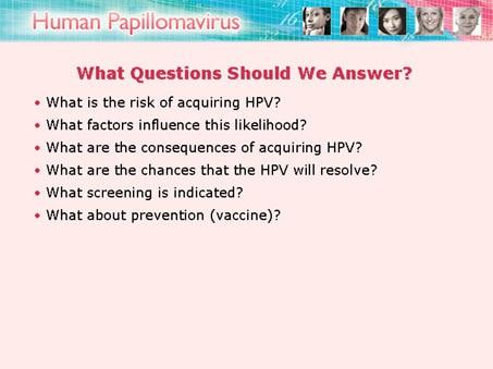 human papillomavirus case study)