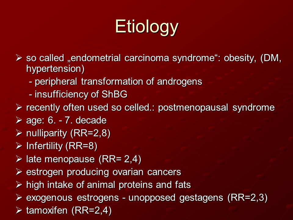 endometrial cancer etiology