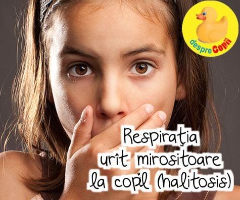 De ce apare respirația urât mirositoare la copii