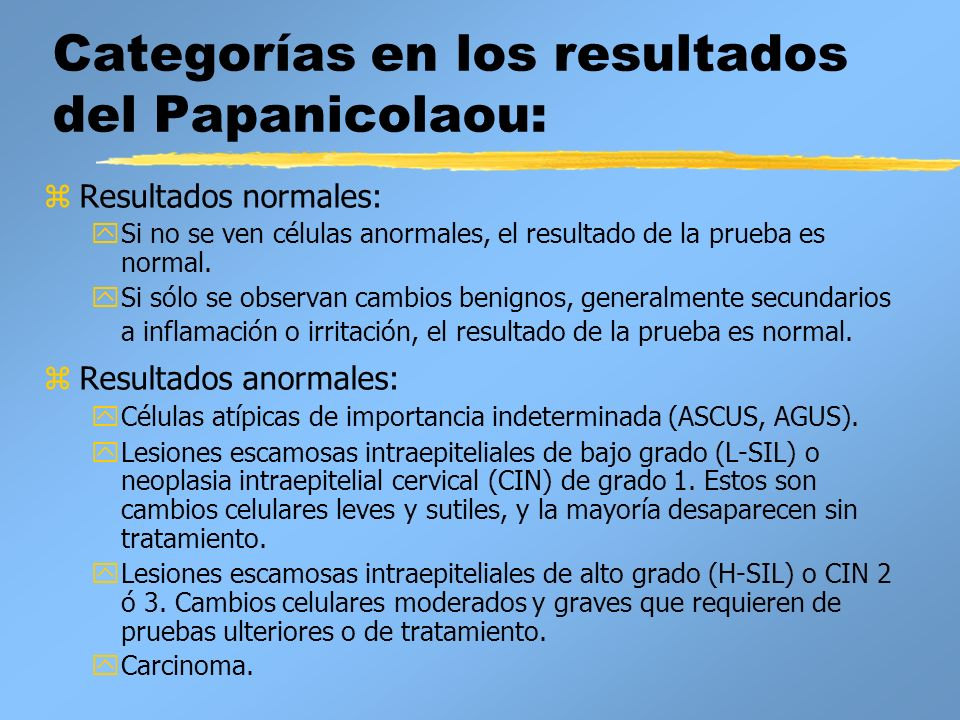papanicolau normal y anormal)