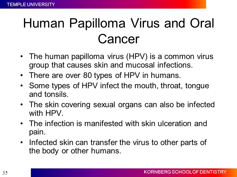 hpv and oropharyngeal cancer ppt