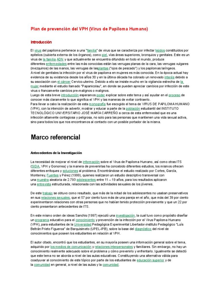 virus del papiloma humano introduccion