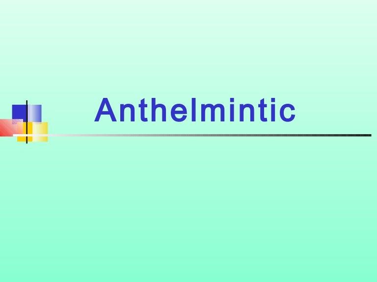 anthelmintic veterinary drugs)