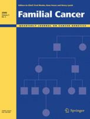 familial cancer journal