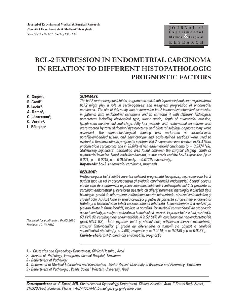 cancer endometrial stadiul 2)
