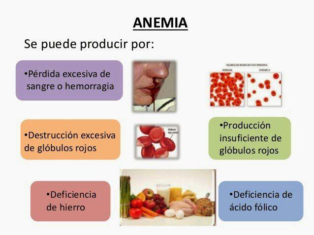 anemia y perdida de sangre