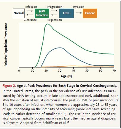 hpv cervical cancer timeline