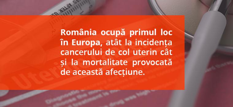 incidenta cancer col uterin romania
