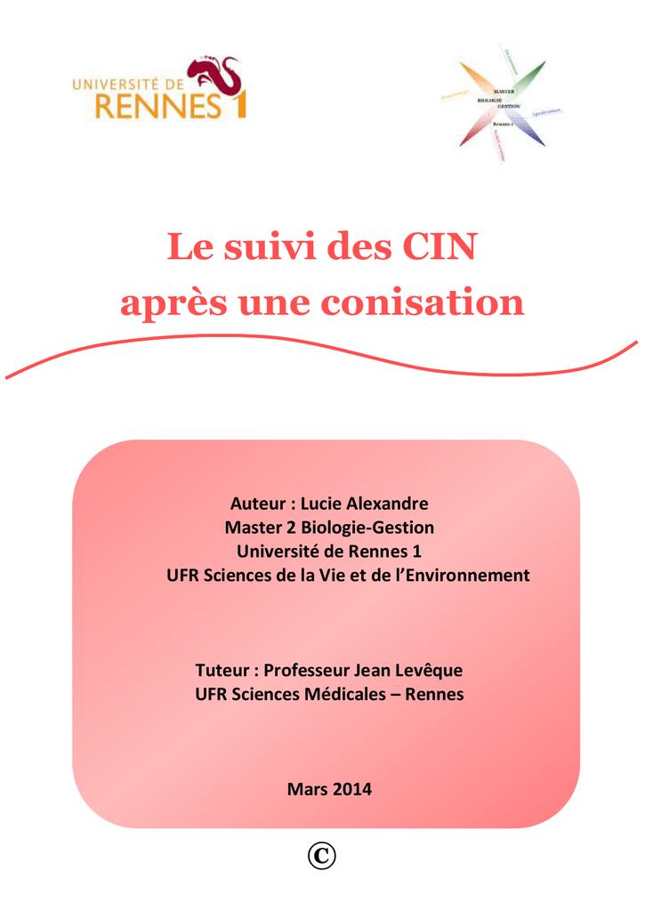 papillomavirus recidive apres conisation)