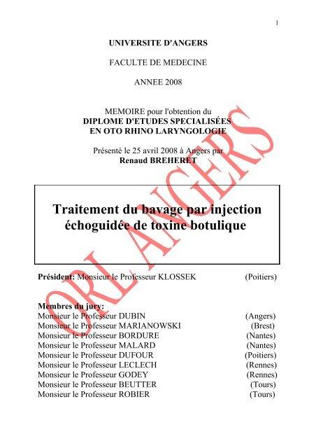 toxine botulique 2007